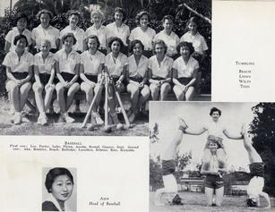 Susan Ahn Cuddy Los Angeles City College was the Director of Woemn's Baseball and played Second Base 1932 and 1933 LACC Asian American Sports